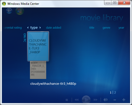 media center movies